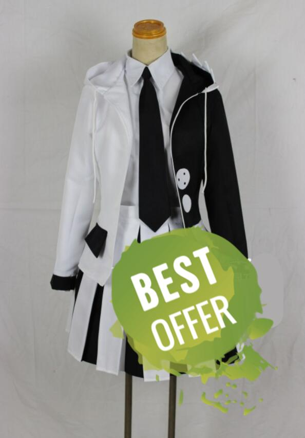 Anime Danganronpa V3: Killing Harmony Monokuma Unisex Cosplay Costume Coat, Shirt, Tie, Skirt(Or Pants), Socks