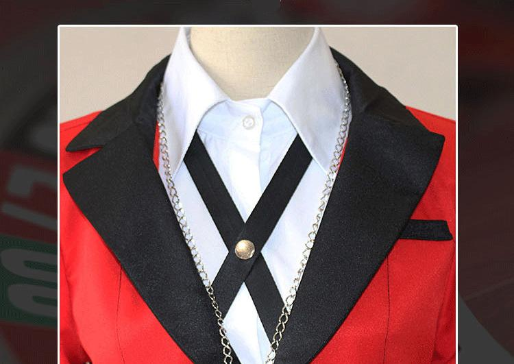 Danganronpa Cosplay Anime Girls Kakegurui Yumeko School Uniform Costume