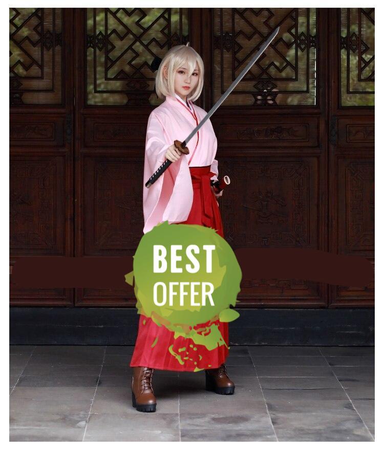 Fate Anime Kimono Okita Souji Cosplay Costume