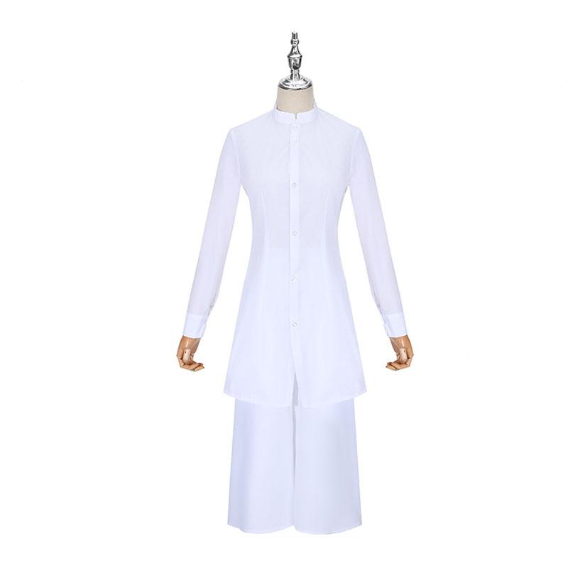 Anime Akudama Drive Cutthroat Satsujinki White Coat Shirt Pants Cosplay Costume And Wig