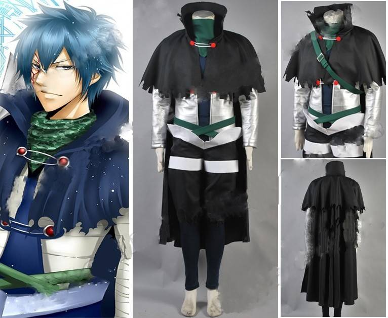 Anime Fairy Tail Mystogan Cosplay Costume