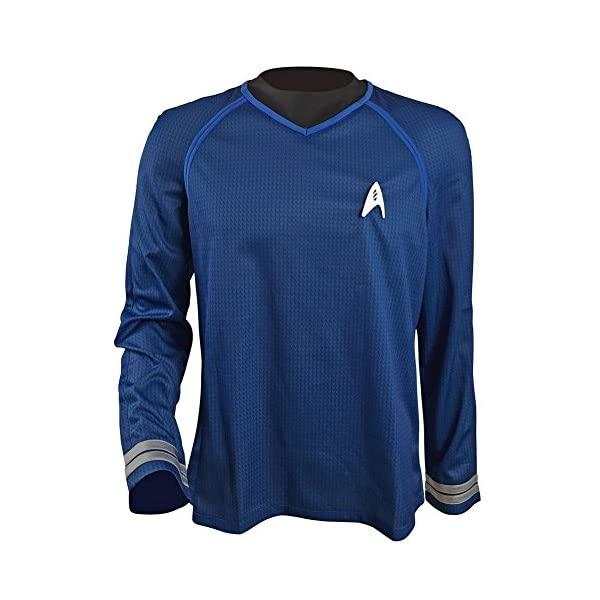 Allten Mens Into Darkness Spock Blue Shirt Halloween Cosplay Costume - Funtober