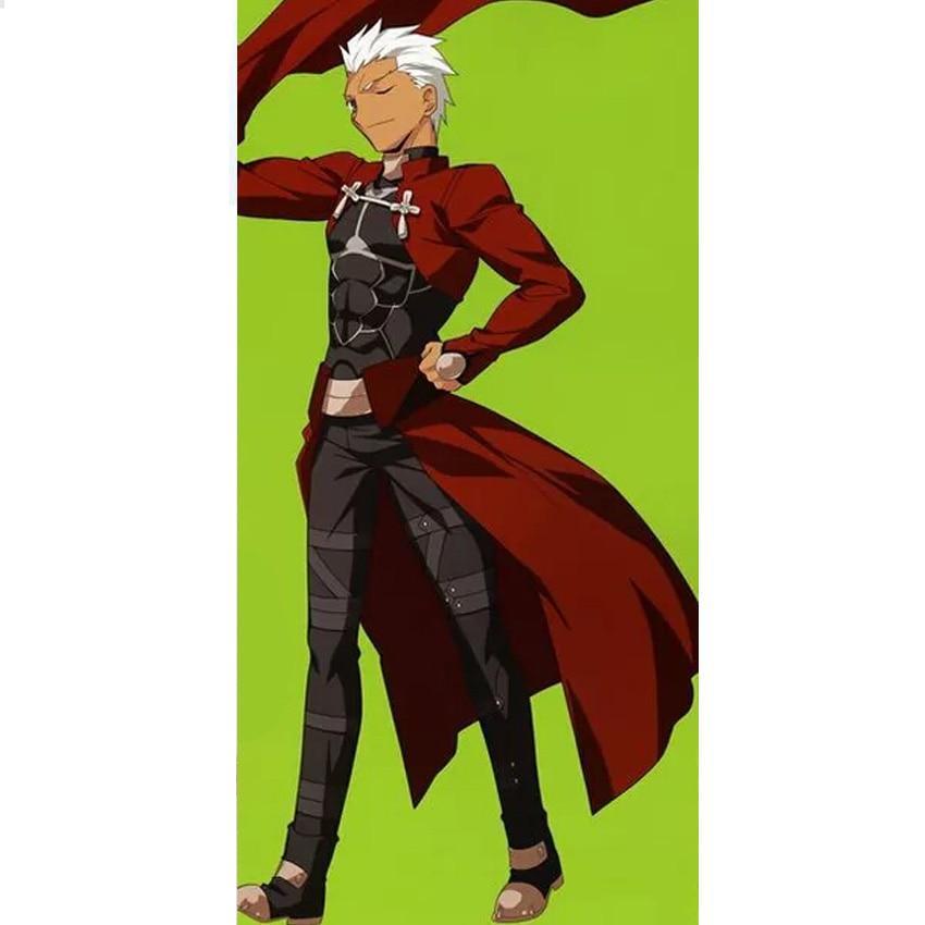 Red Fate Stay Night Archer Emiya Shirou Cosplay Costume Customized Any Size cosplay costume fate stay night archerarcher costume - AliExpress