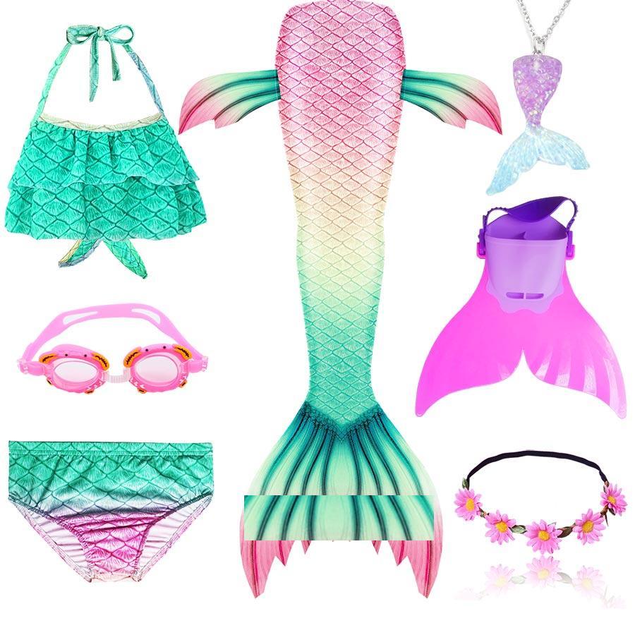 Cute Kawaii Mermaid Tail Costume For Girls