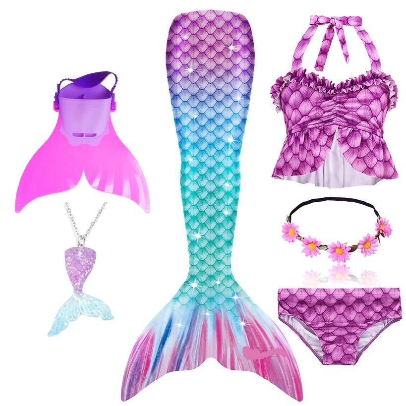 Little Mermaid Tail Cosplay Costume With Necklace