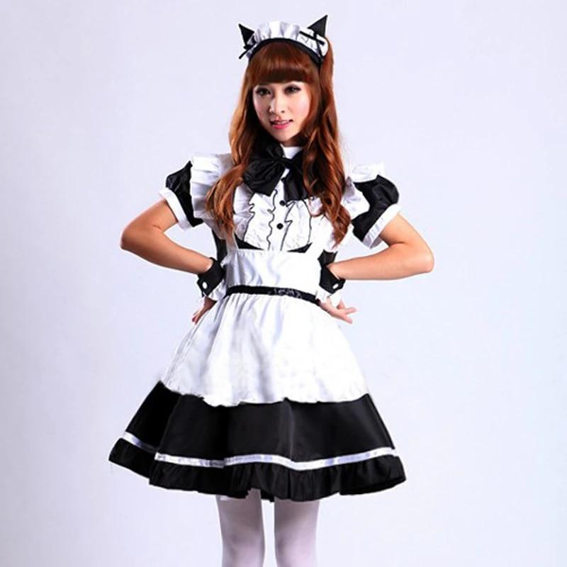 Sexy French Sissy Maid Uniform Costume Sweet Gothic Lolita Dress Anime Cosplay Halloween Costumes For Women Plus Size pink black|halloween costume| costume for womenhalloween costumes for women - AliExpress