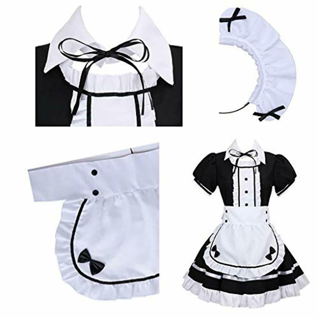French Maid Costume Sweet Gothic Lolita Dress Anime Cosplay Sissy Maid-buy at a low prices on Joom e-commerce platform