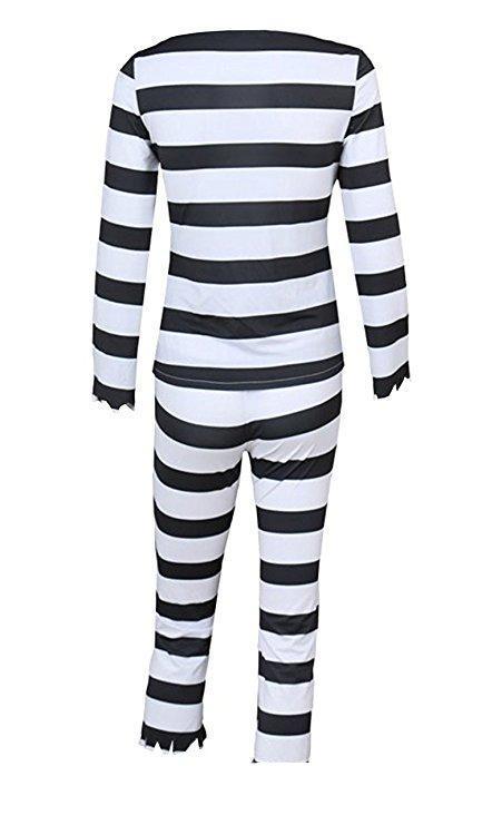 Detentionhouse Nanbaka Jyugo Cosplay Costumes Black White Striped Prisoner Uniform Halloween Jumpsuit Suit From Zazzycos, $59.8 | DHgate.Com