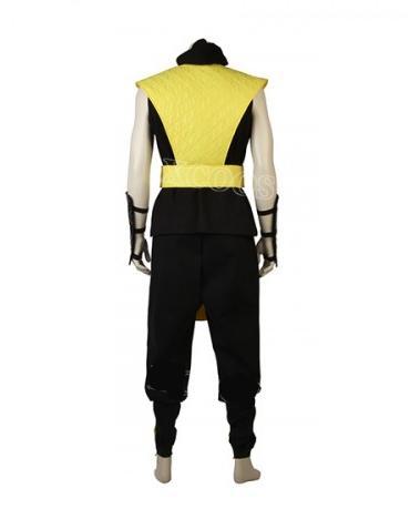 Mortal Kombat X Scorpion Cosplay Costume Raiden Ninja Thunder Halloween Costume