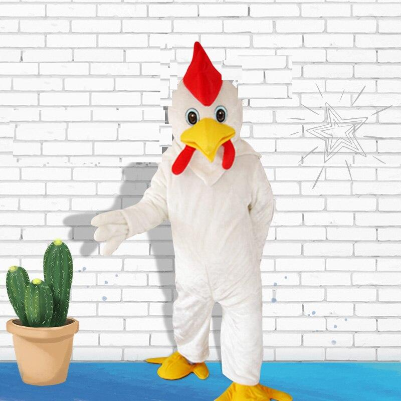 White Cock Cosplay Mascot Costume For Adults
