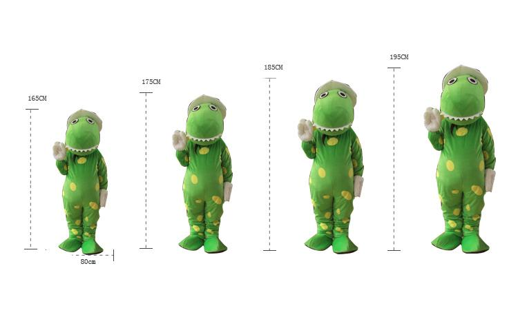 Cartoon Green Dorothy Dinosaur Cosplay Mascot Costume