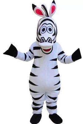 Cartoon Madagascar Penguin, Zebra, River Horse, Hippopotamus And Lion Cosplay Mascot Costume