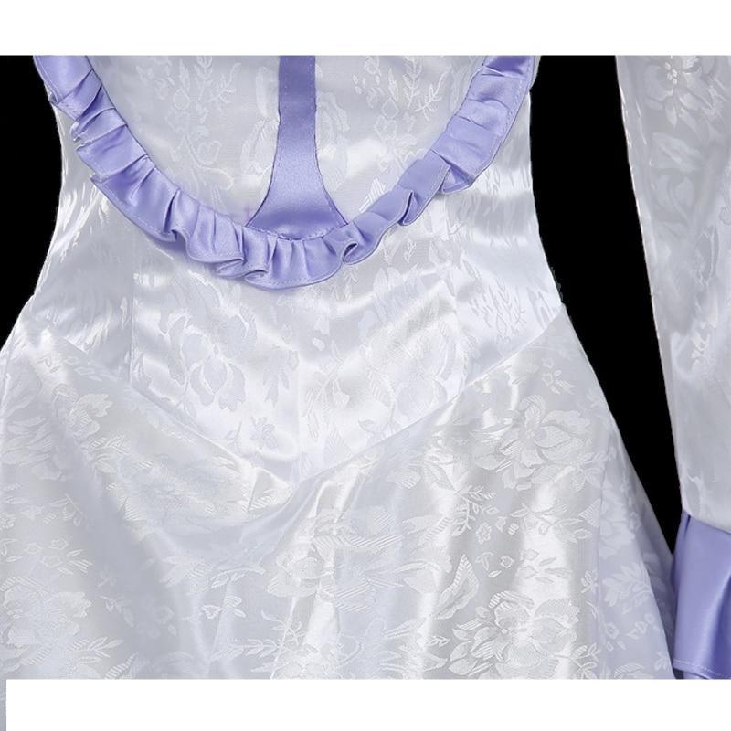 Aldnoah Zero Asseylum Vers Allusia Cosplay Costume Hot Anime Halloween Wedding White Dress Adult Women Queen Party Gown|costume vinyl|costume trouserscostume star - AliExpress